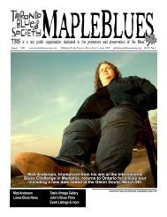 March 2010 - Toronto Blues Society