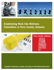 Perry County Implementation Guide - Alabama Department of Public ...