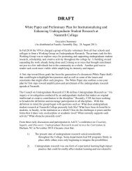 White Paper: Institutionalizing and Enhancing ... - Nazareth College