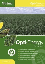 Opti-Energy Molasses Brochure - Optima Agriculture