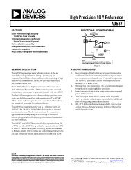 AD587 High Precision 10 V Reference Data Sheet ... - Analog Devices