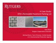 EPA's Permeable Pavement Parking Lot - Rutgers Cooperative ...