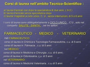 Presentazione - Farmacia - Università degli Studi di Bari