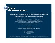 Residents' Perceptions of Neighborhood and the ... - Blog@Case