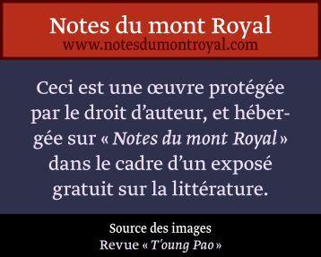 Compte rendu sur - Notes du mont Royal