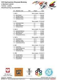 XVIII Ogólnopolska Olimpiada Młodzieży w Sportach Letnich