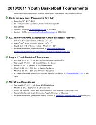 2010/2011 Youth Basketball Tournaments