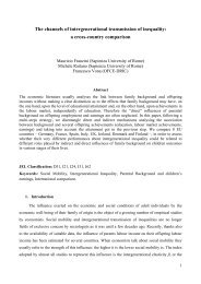 The channels of intergenerational transmission of ... - Dipecodir.it