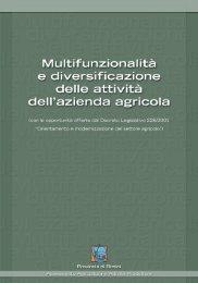 Multifunzionalità e diversificazione delle attività dell'azienda agricola