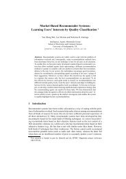 Market-Based Recommender Systems - Electronics and Computer ...