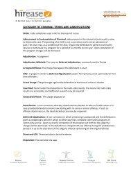 GLOSSARY OF CRIMINAL TERMS AND ABBREVIATIONS - Hirease