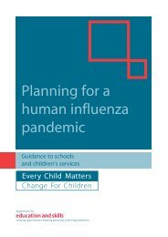 Planning for a human influenza pandemic - Bolton LEA Website