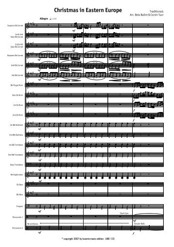 Christmas in Eastern Europe - Score.MUS - Lucerne Music Edition