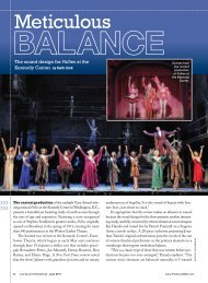 Meticulous Balance - The Sound Design for Follies ... - Aspen Media.