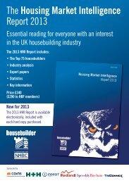 The Housing Market Intelligence Report 2013 - Housebuilder