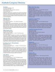 Aerolase Allergan, Inc. Alma Lasers, Inc. Asclepion Laser ...