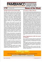 n°32 1- 7 Dicembre 2003 News of the Week - Pambianconews
