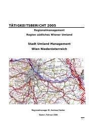 TÄTIGKEITSBERICHT 2005 - Stadt-Umland Management