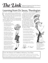 Learning from Dr. Seuss, Theologian - Westminster Presbyterian ...