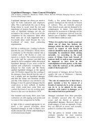 Liquidated Damages - Some General Principles