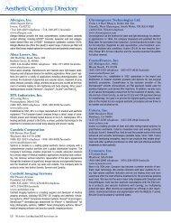 Allergan, Inc. Alma Lasers, Inc. BTL Industries, Inc. Candela ...