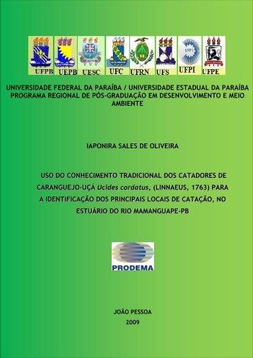 Dissertação - Pró-Reitoria de Pós-Graduação e Pesquisa da UFPB