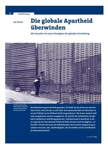 Die globale Apartheid überwinden - Jan Pronk