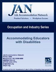 Accommodating Educators with Disabilities - Job Accommodation ...