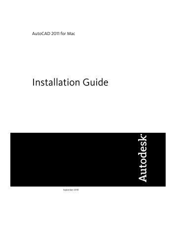 Installation Guide (.pdf) - Documentation & Online Help - Autodesk