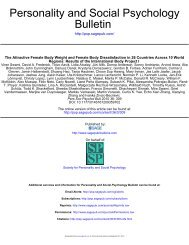 Bulletin Personality and Social Psychology