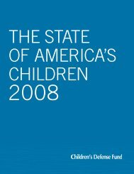 State of America's Children 2008 Report - Children's Defense Fund