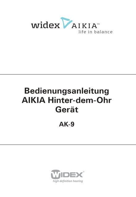 Bedienungsanleitung AIKIA Hinter-dem-Ohr Gerät - Widex