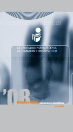 Letno poročilo za leto 2008 - Informacijski pooblaščenec