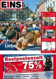 grenzenlose Liebe - E1NS-Magazin
