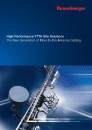 The New Generation of Fiber-to-the Antenna Cabling ... - Rosenberger