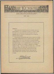 MEI 1944. - Vakbeweging in de oorlog