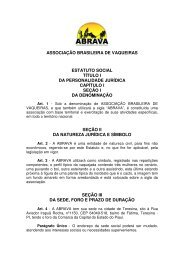 Estatuto Social - Portal Do Equino