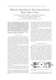 Efficient Algorithm for Detecting Layered Space-Time Codes