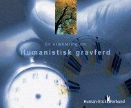 Informasjonshefte om Humanistisk gravferd - Human-Etisk Forbund
