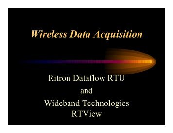 Wireless Data Acquisition - Ritron