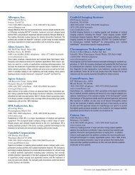 Allergan, Inc. Alma Lasers, Inc. Apira Science BTL Industries, Inc ...