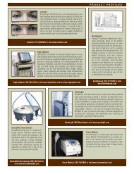 Edge Systems: 562-597-0102 Or Visit Www - MEDICAL INSIGHT, Inc.