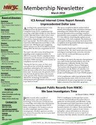 March_2010_Newsletter - National White Collar Crime Center