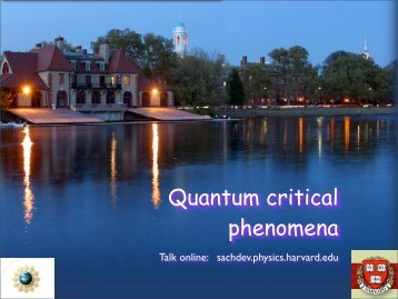 Quantum critical phenomena
