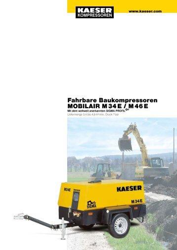 Fahrbare Baukompressoren MOBILAIR M 34 E / M 46 E