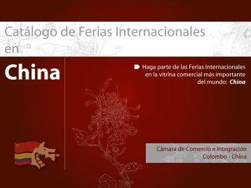 Catálogo de Ferias en China - Cámara de comercio e integración ...