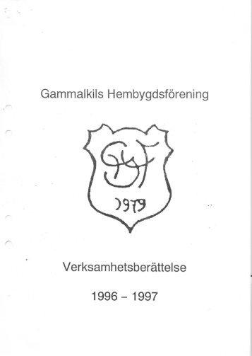 Verksamhetsberättelse för år 1996 - Gammalkils Hembygdsförening