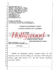 Read the Fox Complaint Here - The Hollywood Reporter