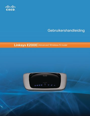 Linksys E2000 User Guide - Vodafone Trident 2