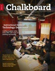 Chalkboard Winter 2012 - School of Education - Indiana University